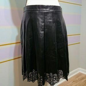 J.McLaughlin vegan leather skirt sz 10